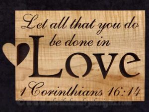 Love Scroll Saw Bible Passage Pattern