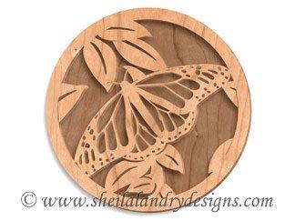 Monarch Butterfly Laser Pattern