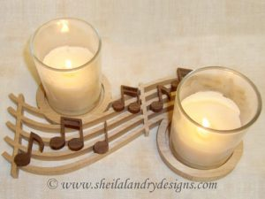 Musical Candle Holder Scroll Saw Pattern