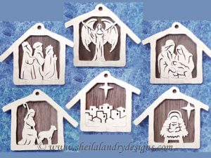 Nativity Ornaments Scroll Saw Pattern