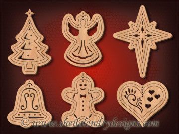 Nested Scroll Saw Christmas Ornaments