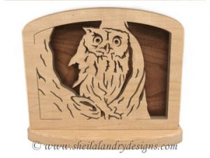 Owl Napkin Holder Scroll Saw Pattern