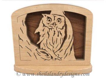 Owl Napkin Holder Scroll Saw Pattern