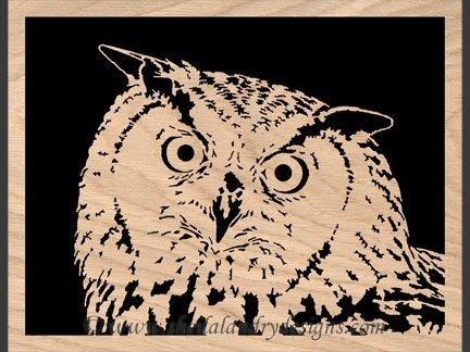 Owl Portrait Scroll Saw Pattern