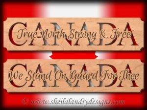 Patriotic Canada Scroll Saw Pattern