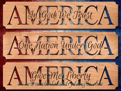 America Patriotic Scroll Saw Patterns