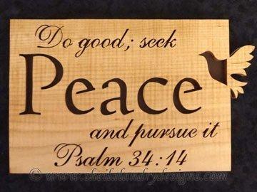 Peace Scroll Saw Bible Passage Pattern