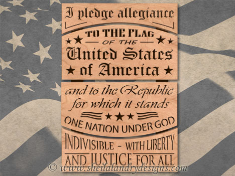Pledge Of Allegiance Scroll Saw Pattern