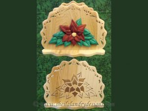 Poinsettia Napkin Holder Scroll Saw Pattern