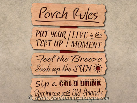 Porch Rules Scroll Saw Pattern