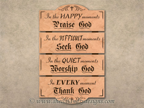 Praise God Scroll Saw Pattern