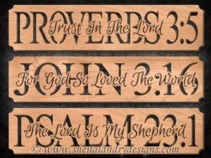 Proverbs, John & Psalms Scroll Saw Pattern