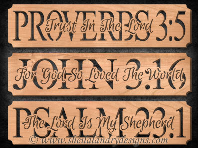 Proverbs, John & Psalms Scroll Saw Pattern