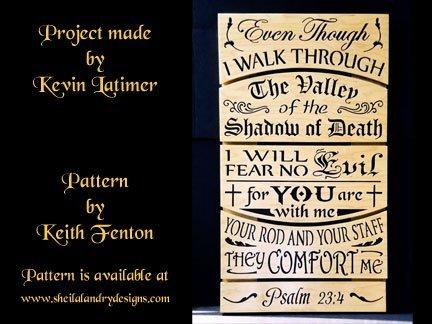 Psalm 23:4 Laser Pattern