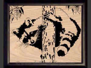 Raccoon Scroll Saw Pattern