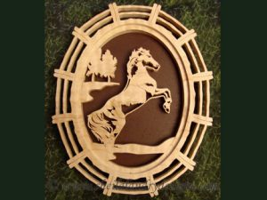 Rearing Horse Scroll Saw Pattern