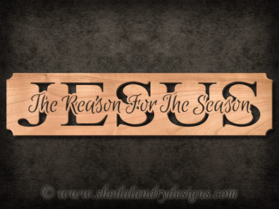 The Reason For The Season Scroll Saw Pattern