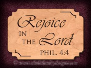 Rejoice Lord Scroll Saw Pattern
