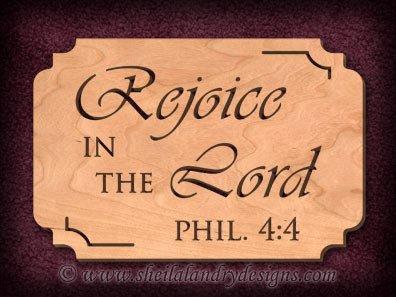 Rejoice Lord Scroll Saw Pattern