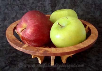 Round Fruit Basket Woodworking Plans
