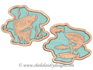 Salmon & Rainbow Trout Scroll Saw Pattern
