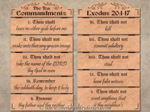 Scroll Saw 10 Commandments Pattern