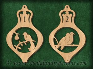 Scroll Saw 12 Days Of Christmas Ornaments