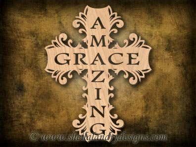 Scroll Saw Amazing Grace Cross