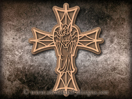 Scroll Saw Angel Cross Pattern