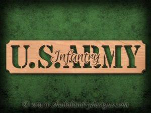 Scroll Saw Army Infantry Pattern