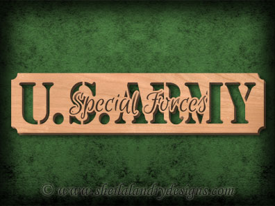 Scroll Saw Army Special Forces Pattern
