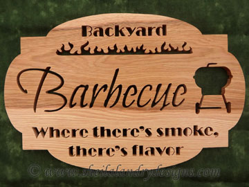 Scroll Saw Barbecue Pattern