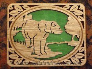Scroll Saw Kodiak Bear Pattern