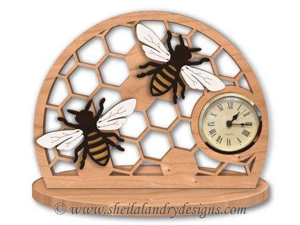 Scroll Saw Bee Clock Pattern