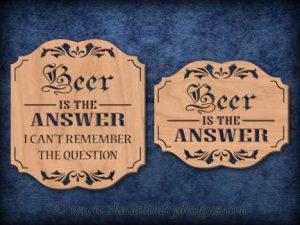 Scroll Saw Beer Pattern