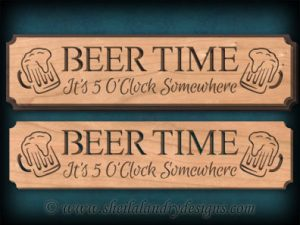 Scroll Saw Beer Time Pattern