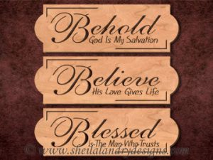 Scroll Saw Behold Believe Blessed Pattern