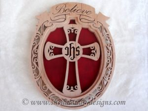 Scroll Saw Believe Cross Pattern