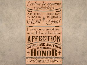 Scroll Saw Bible Passage Pattern