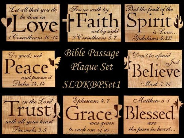 Scroll Saw Bible Passage Pattern Set