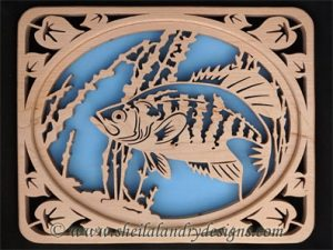 Scroll Saw Black Crappie Pattern
