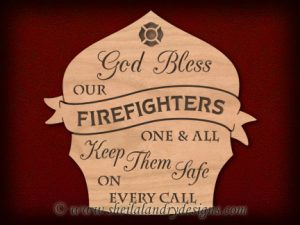 Scroll Saw Bless Firefighter Pattern
