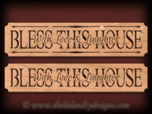 Scroll Saw Bless This House Pattern