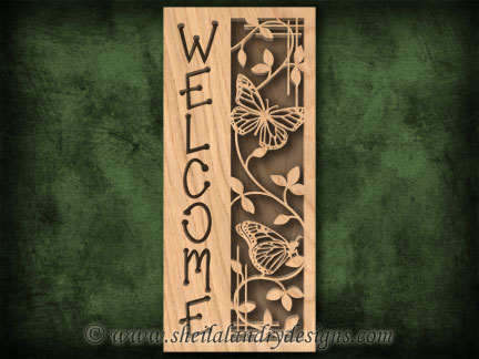 Scroll Saw Butterfly Welcome Pattern