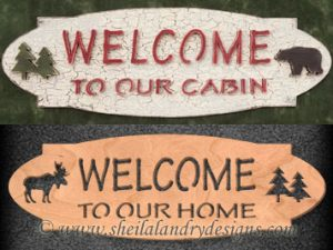 Scroll Saw Cabin Welcome Pattern