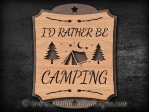 Scroll Saw Camping Pattern