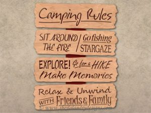 Scroll Saw Camping Rules Pattern