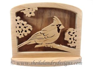 Scroll Saw Cardinal Napkin Holder Pattern