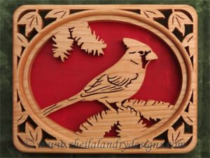 Scroll Saw Cardinal Pattern