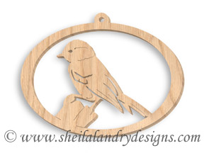 Scroll Saw Chickadee Pattern